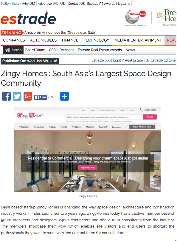 ZingyHomes : South Asia's Largest Space Design Community