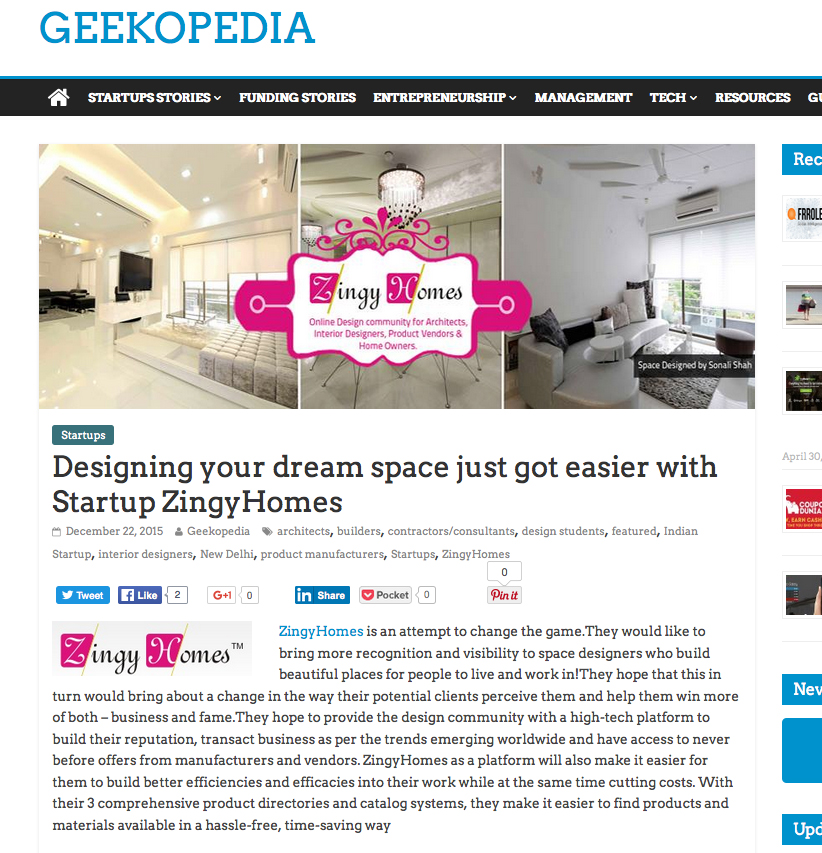 Designing your dream space just got easier with Startup ZingyHomes