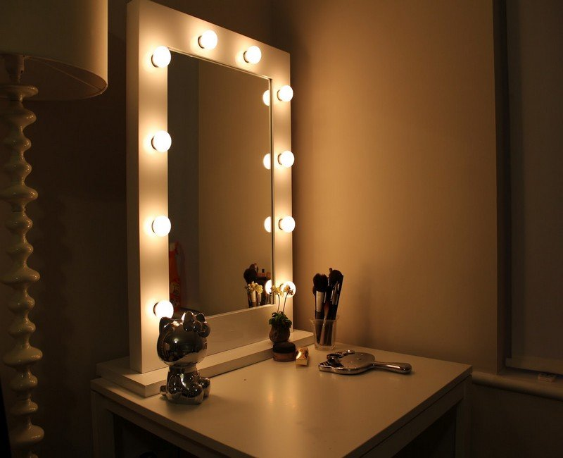 Vanity mirrors for bedroom bathroom walls mirror d cor - Bedroom vanity mirror with lights ...
