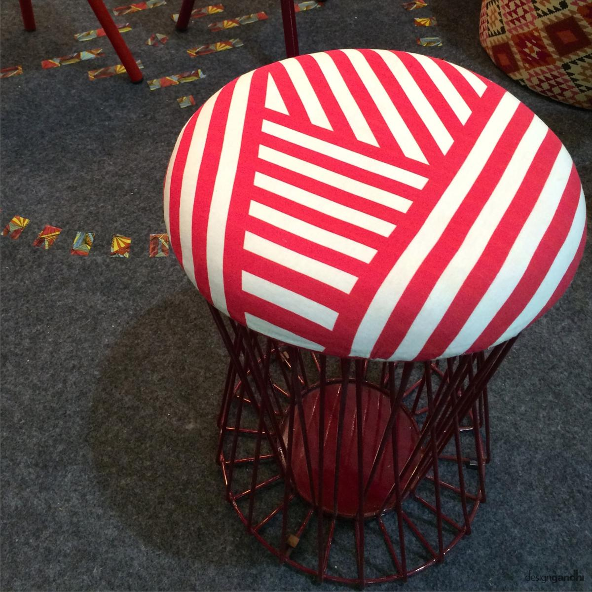 round shaped stool