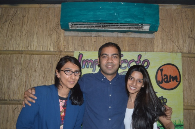 Co-founder of Imperfecto, Sharad Madan ( center) and team
