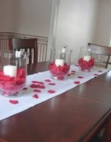 Rose Petals in a Bowl on the Table