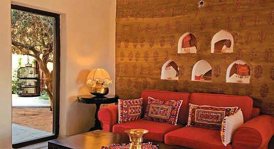 Rajasthani style interior design ideas palace interiors for Indian traditional interior design ideas for living rooms