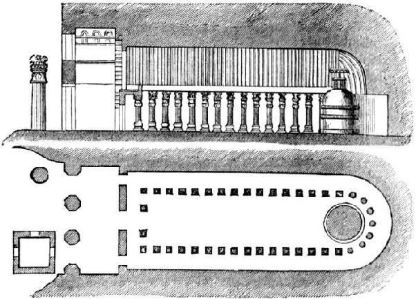 Section through a chaityas
