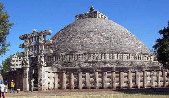 Sanchi Stupa Plan Elevation : Buddhist art and architecture in ancient india