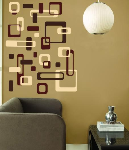Retro wall decor idea