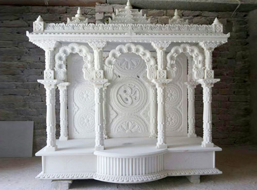 Pooja room decor ideas home tips photos corner puja room designs for Marble temple designs for home