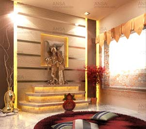 Pooja room decor ideas home tips photos corner puja for Home mandir designs marble