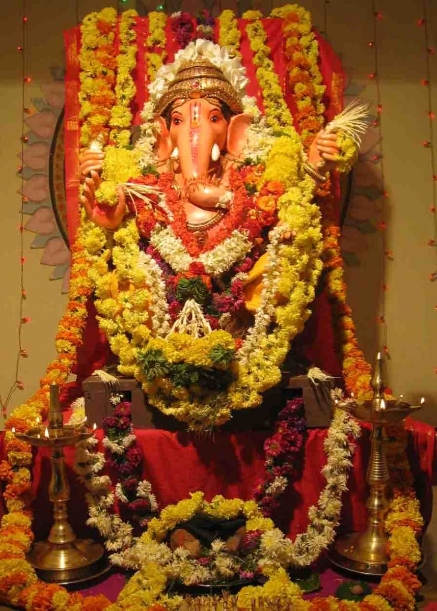 simple home decoration for ganesh chaturthi ganpati decoration