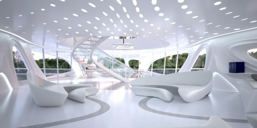 Interiors of Sail the Seas, designed by Zaha Hadid