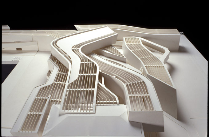 Model of MAXXI Museum designed by Zaha Hadid