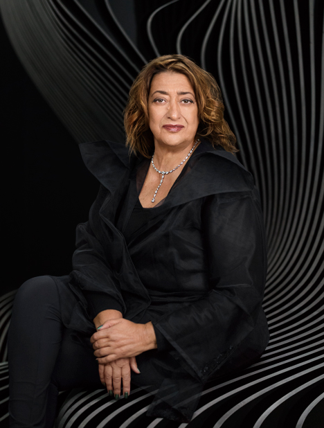 A portrait of Zaha Hadid