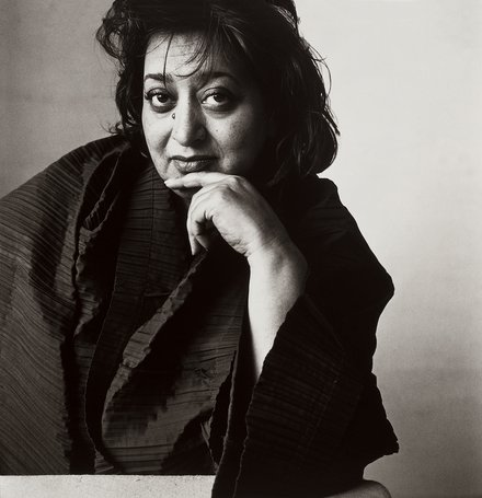 An old photograph of Zaha Hadid