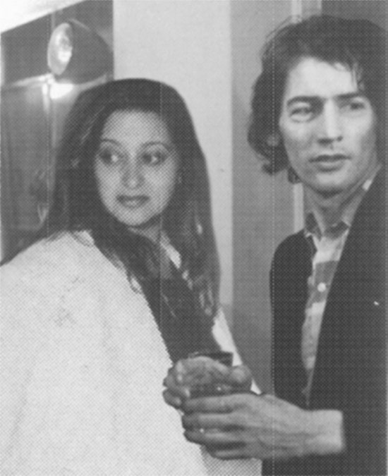 An old photograph of Zaha and Rem