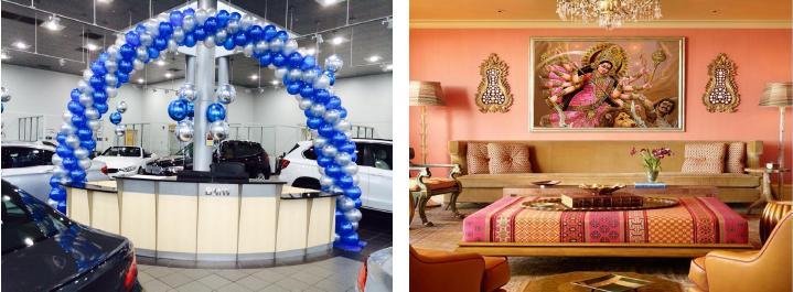 Navratri Decoration At Showroom Navratri Decor Ideas Tips