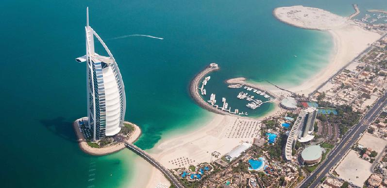 Bird's eye view of part of Dubai
