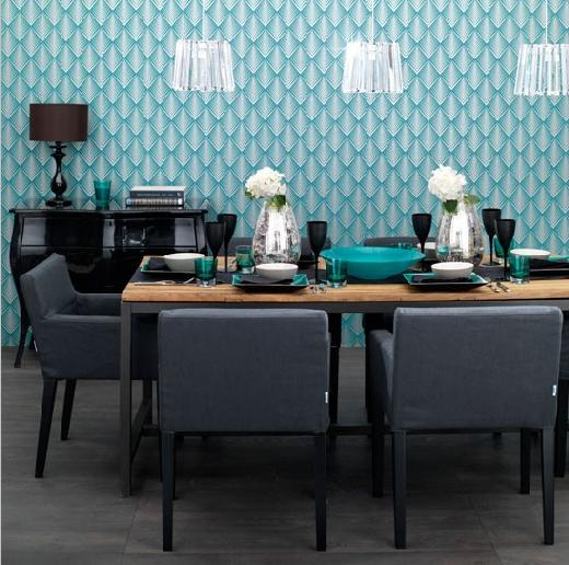Wallpaper designs india wallpaper ideas for home images photos - Trend wallpaper dining ...