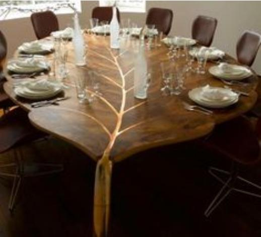 Leaf table design