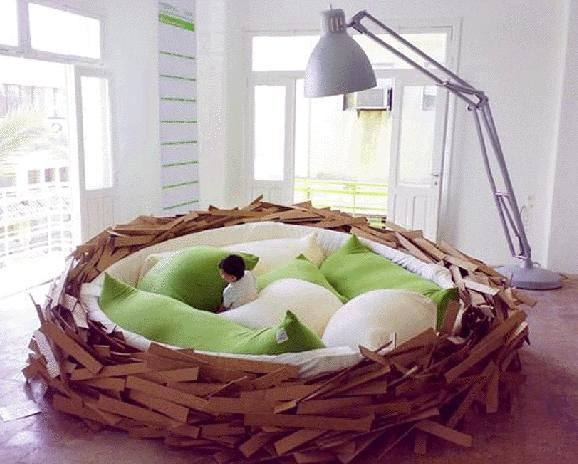 natural nest bed bedroom