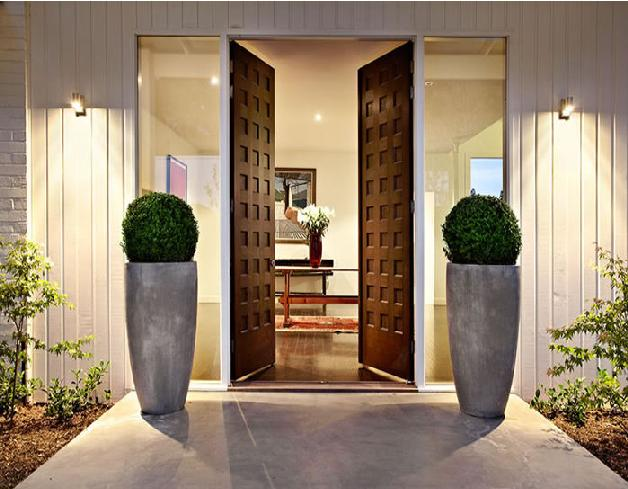 Contemporary home entrance designs modern front door for Door design with highlighter