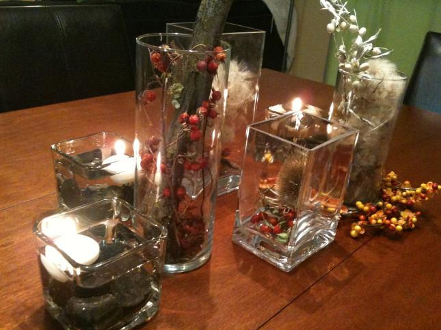 Cheap Ideas on decorating glass vases
