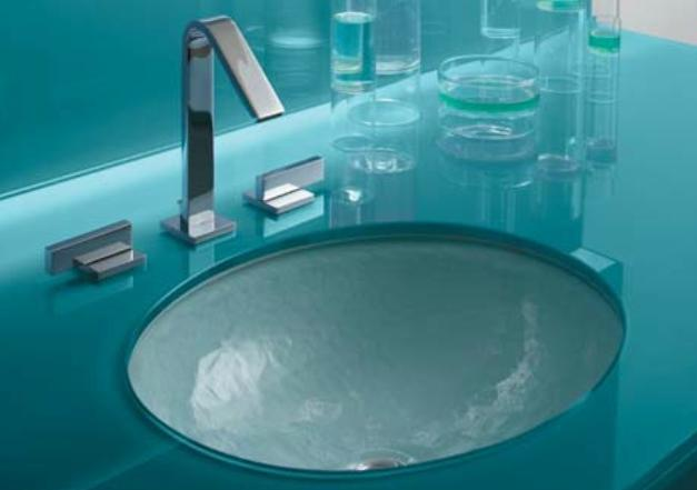 Glass bathroom sink