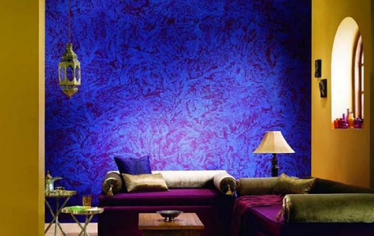 Purple Home Decorating with Textured Paint