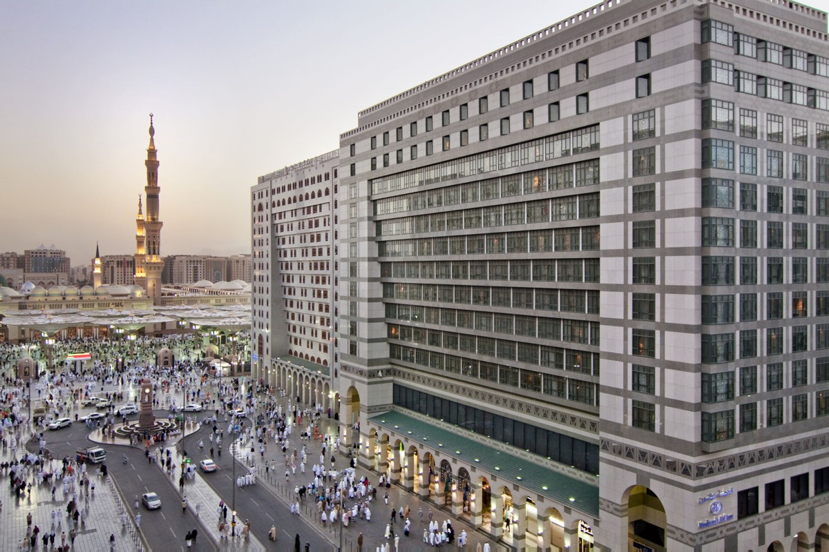 Madinah Hilton Exterior Hotel with Holy Mosque