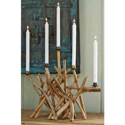Drift wood candlebra