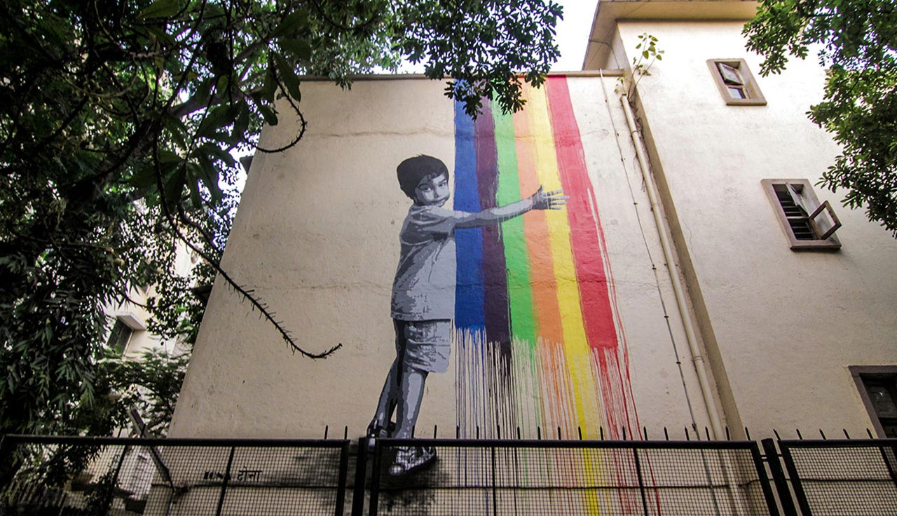 street wall painting art