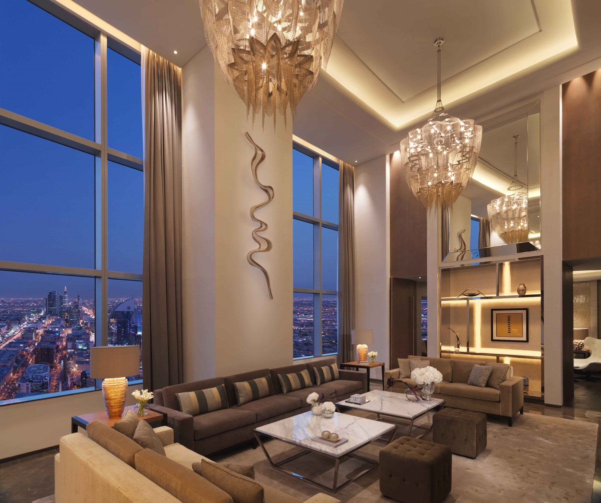 Inside the Four Seasons Hotel Riyadh at Kingdom Tower, winner at MEHA 2015