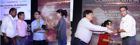 Ar. Vivek Singh Rathore and Ar. Sudipta Seal receiving the award