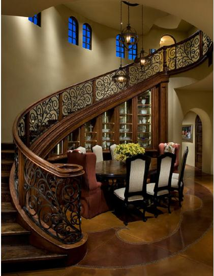 Dining room with staircase stairs designs dining table for Dining room tables under 100