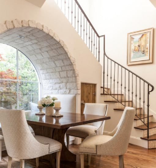 Dining room with staircase stairs designs dining table for Room design under stairs