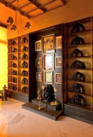 Pooja room designs kerala style pooja room interiors - Pooja room door designs in kerala ...