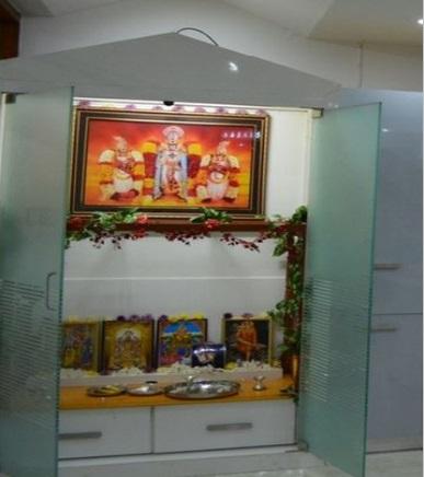 Pooja room glass door designs images pooja room doors in for God room interior designs