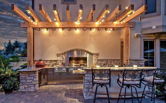 Lighting for Outdoor Kitchen
