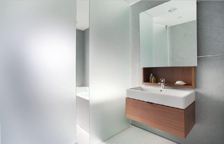 Frosted glass partition designs for bathrooms frosted for Small bathroom glass partition designs