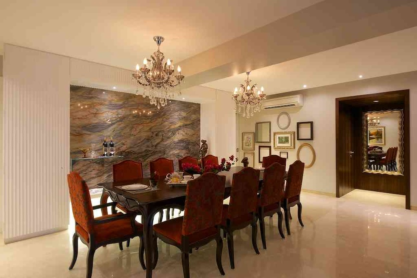 Dining room wallpaper designs dining room wall paper for Dining area wall design
