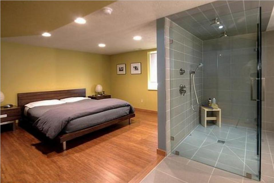 Bedroom With Bathroom Design