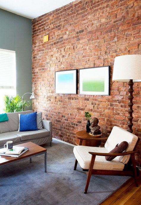 Captivating Bricks Wallpaper For Living Room
