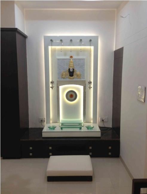 Pooja Room Storage Designs, Pooja Room Shelf Design Ideas