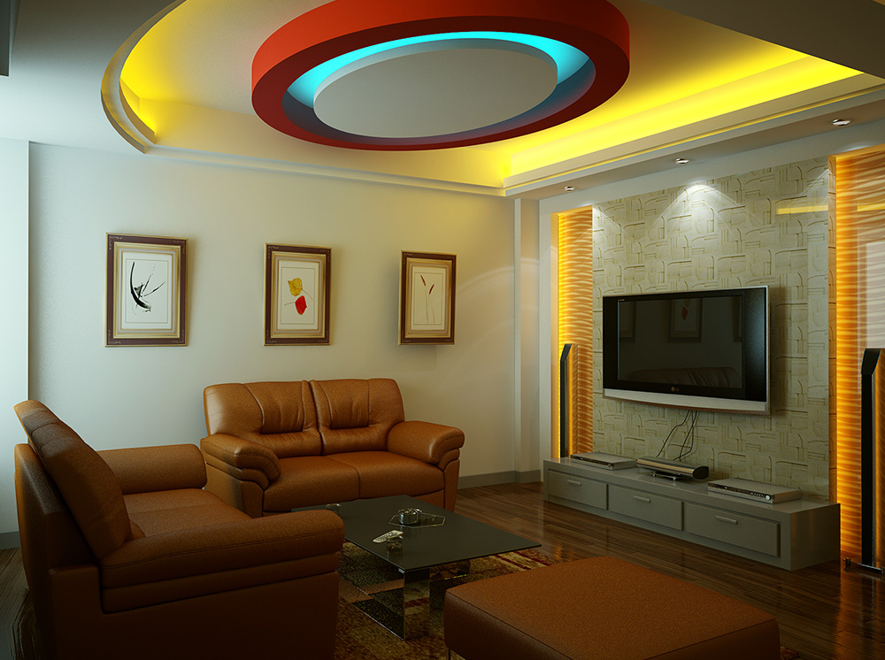 False ceilings and drywalls false ceilings and drywalls for Interior design for living room roof