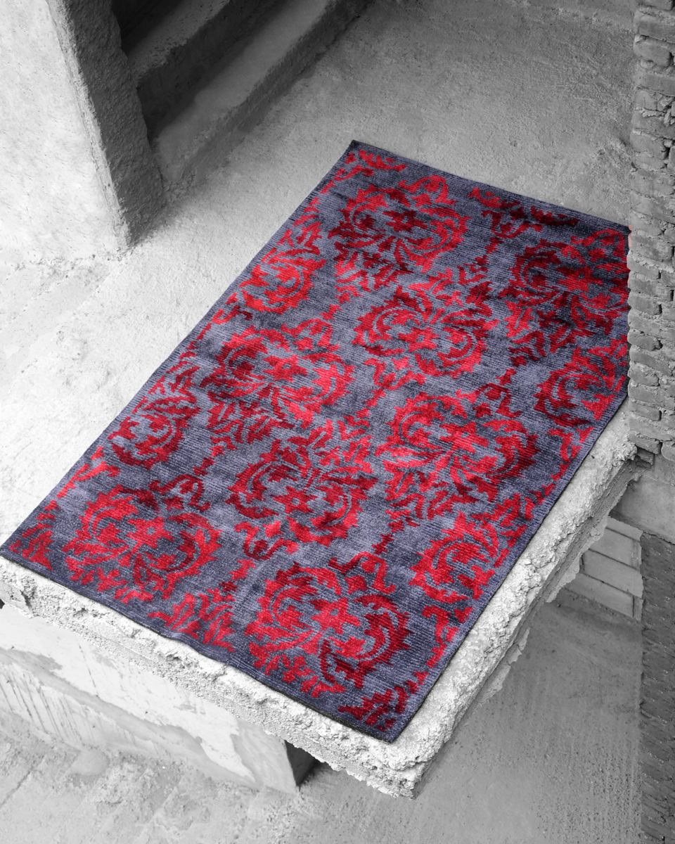 Damask Hand-tufted, Wool Viscose Rugs