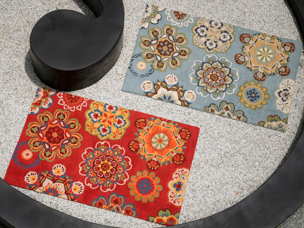 Medalion Artistic Floral Patterned Rugs