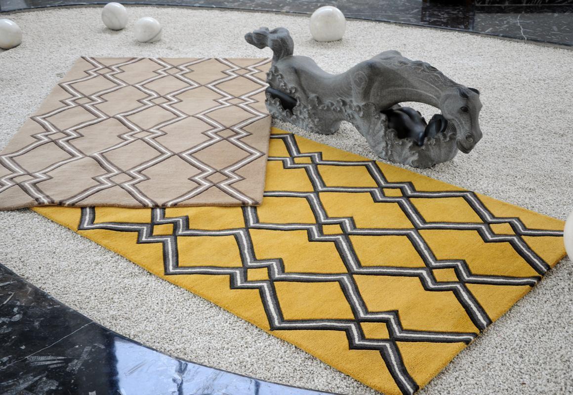 Oscar Modern Geometric Wool Rugs