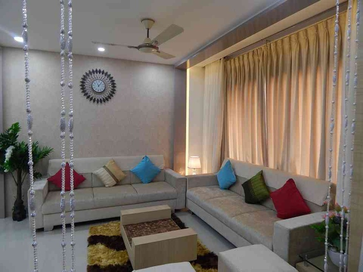 1200 sq feet 2bhk flat by rucha trivedi interior designer for 1 bhk flat interior decoration image