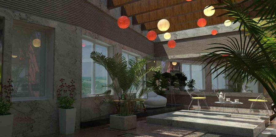 Terrace garden sit out by vijay kumar architect in for Terrace 6 indore address