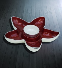 Dip Platter Star (Red)