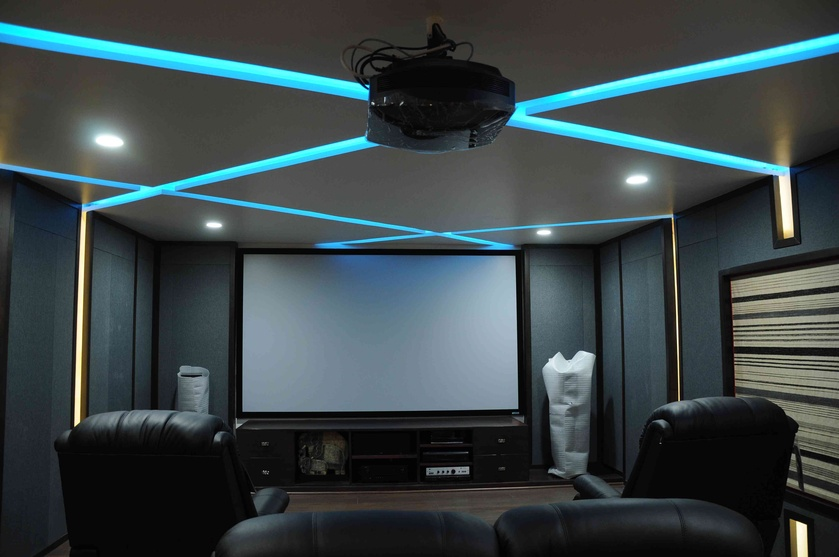 Home Theatre Designs, India | Home Theater Design Ideas, Tips, Images